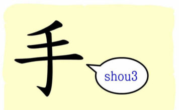 L'origine du caractère chinois 手 - shǒu - main