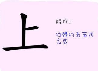 caracteres chinois haut