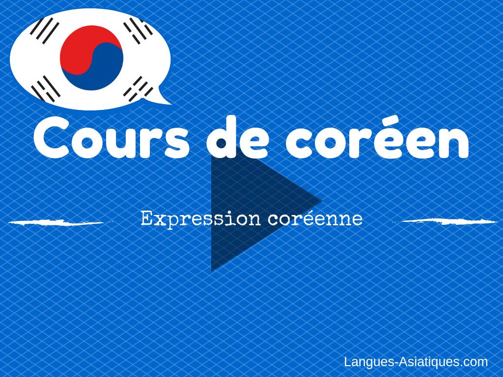 cours de coréen expression