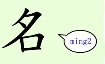 L'origine du caractère chinois 名 - míng - nom