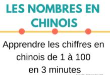 Les nombres en chinois - Apprendre les chiffres de 1 à 100 en 3 minutes