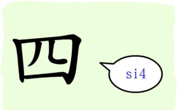 L'origine du caractère chinois 四 - sì - quatre