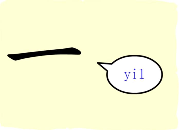 L'origine du caractère chinois 一 – yī – un