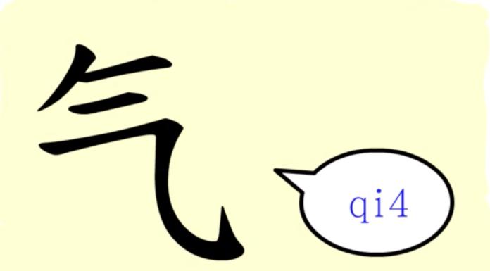 L'origine du caractère chinois 气 - qì - gaz