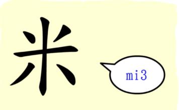 L'origine du caractère chinois 米 - mǐ - riz