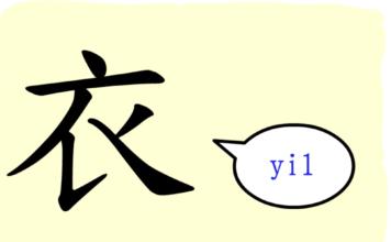 L'origine du caractère chinois 衣 – yī – vêtement