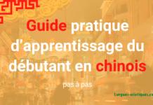 Guide pratique d'apprentissage du débutant en chinois