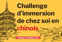 Challenge d'immersion de chez soi en chinois