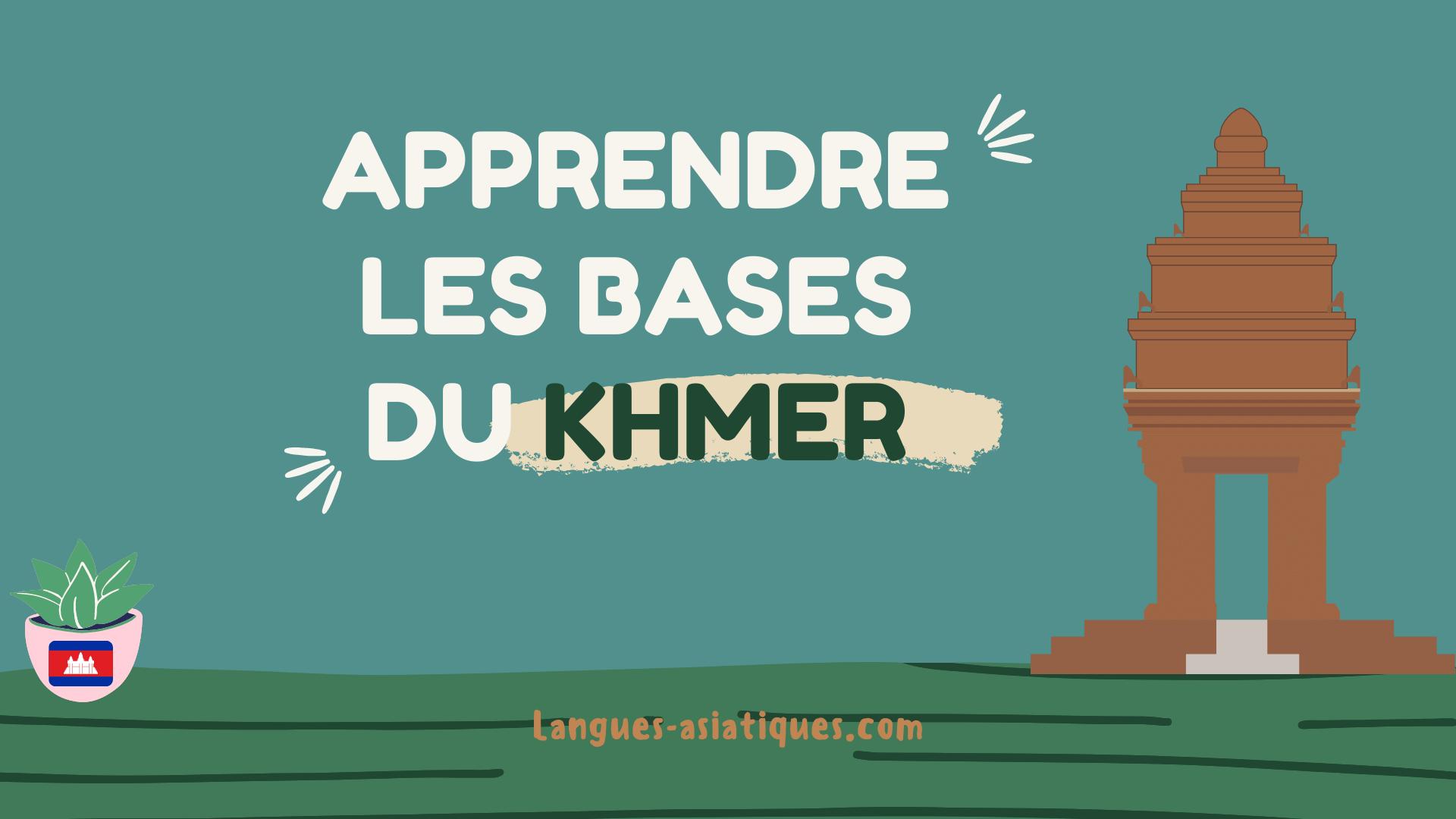 apprendre les bases du khmer