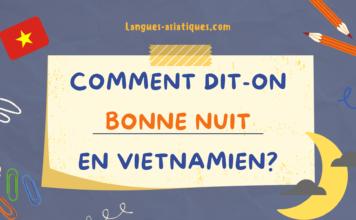 Comment dit-on bonne nuit en vietnamien ?