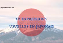20 expressions usuelles en japonais
