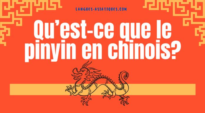 Qu'est-ce que le pinyin en chinois?