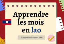 Apprendre les mois en lao