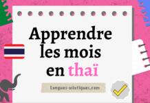 Apprendre les mois en thaï