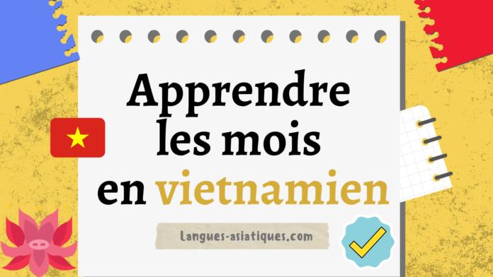 Apprendre les mois en vietnamien